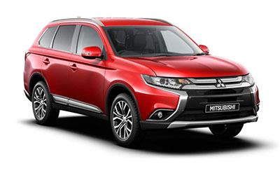 Mitsubishi Outlander - Available in Orient Red